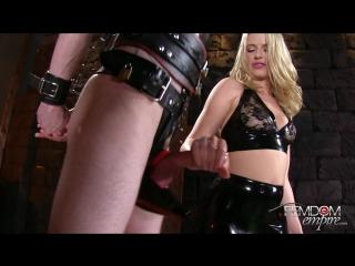 Anikka Albrite - Rubber Chastity Release (2016) BDSM, Femdom Empire, Chastity, Handjobs, Cum Eating