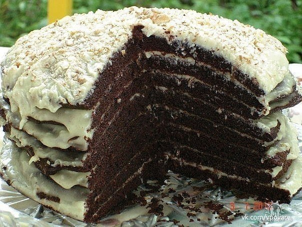 6 рецептов шоколадных тортиков!  1. Шоколадный торт на кипятке...