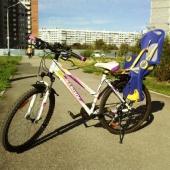 Прокат велосипеда с детским креслом Stern Mira + шлем для ребенка