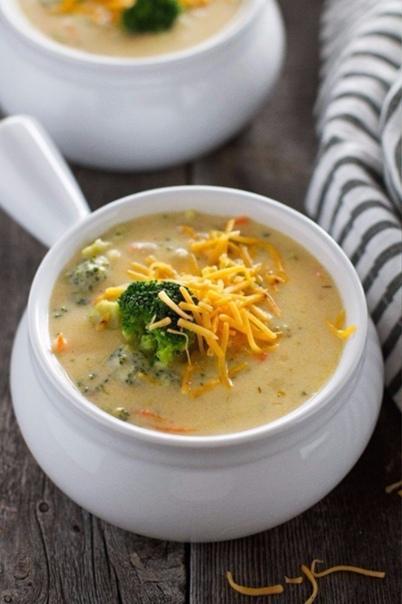Сырный суп с шампиньонами и брокколи    Поделись...