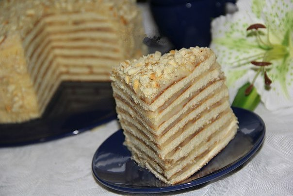 Торт со сгущенкой на сковороде.