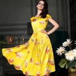 Желтое вечернее платье Золотая Рыбка