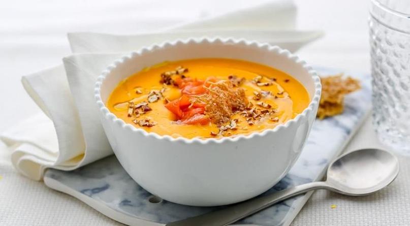 Суп пюре из тыквы с чесноком