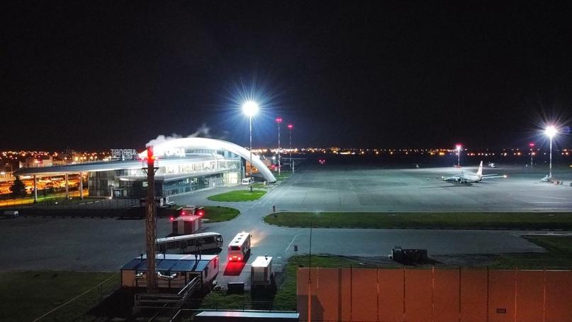 Ночной аэропорт Белгорода ✈️