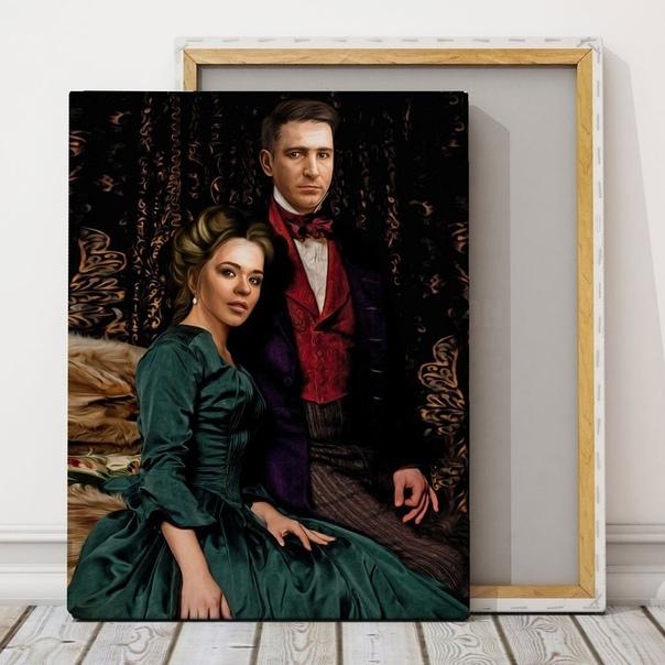 В поиске оригинального подарка?????  Закажите портрет на холсте в...