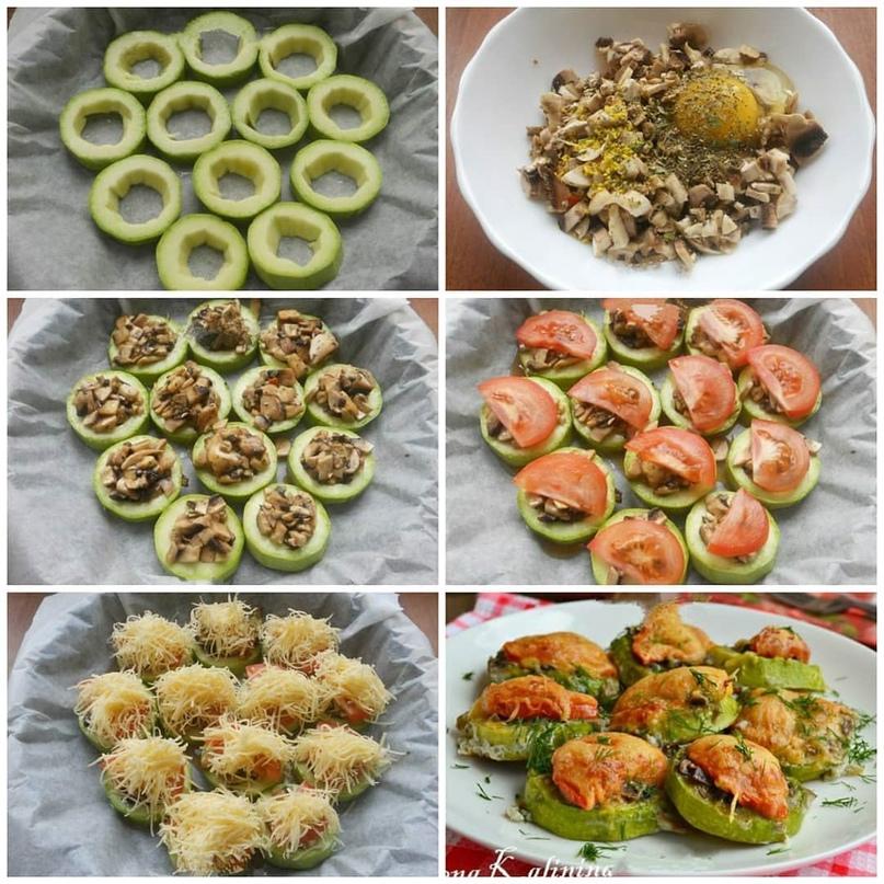 Рецепт кабачков с шампиньонами👍