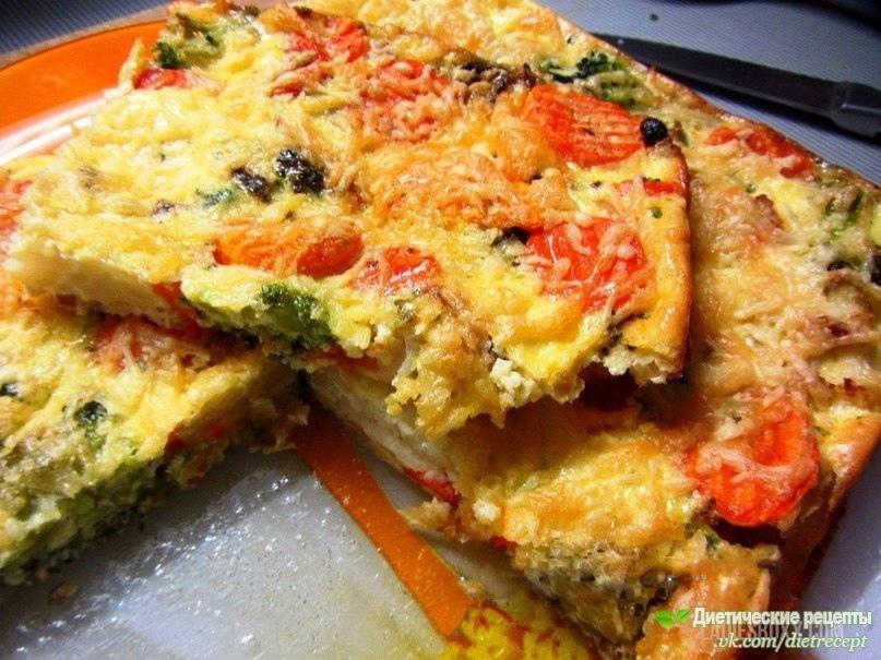 Низкокалорийная овощная запеканка, вариант на завтрак
