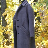 Пальто женское серо-коричневое