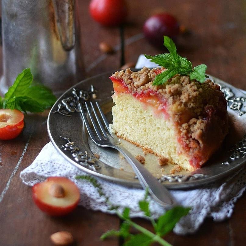 Пирог со сливами 🍑