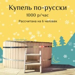 Купель по-русски (1000 руб\час)