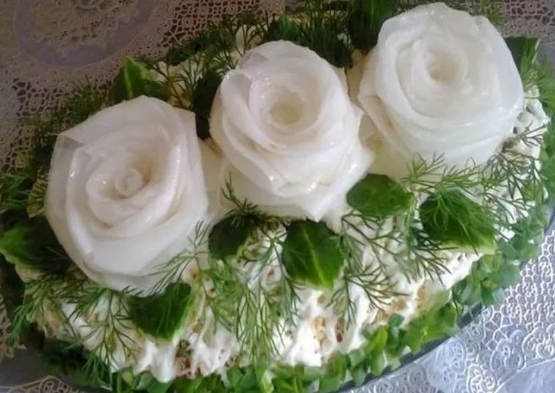 "Салат ""Три белые розы""✅✅✅"