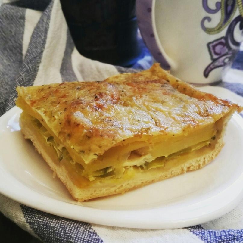Пирог с картофелем и кабачком