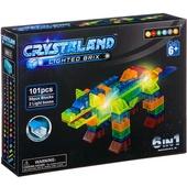 Конструктор пластмас. 101 дет., светящ. c 2-мя LED элементами, CRYSTALAND, динозавр, 6в1 моделей