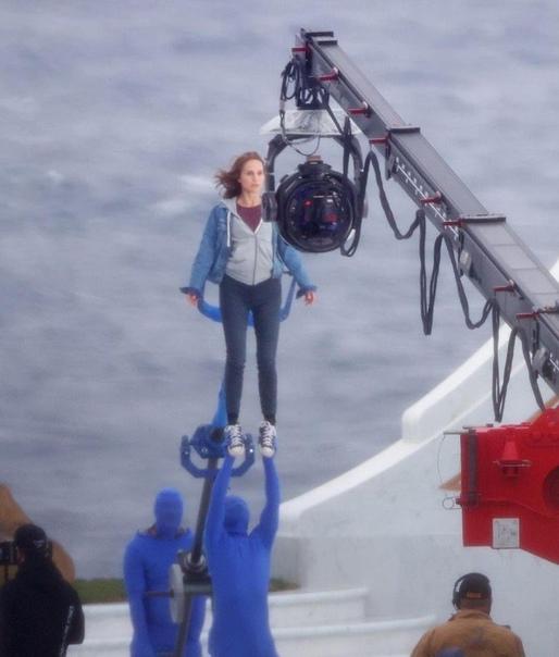 Натали Портман на съёмоках четвёртого «Тора» в Австралии...