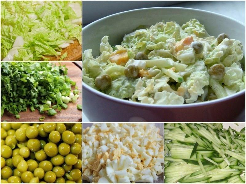 Простой, но вкусный салат из пекинской капусты