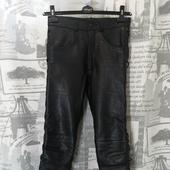 (1450)Мотоштаны кож на шнуровке, р-р XS.