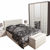 Спальня БЕАТРИС белый снег