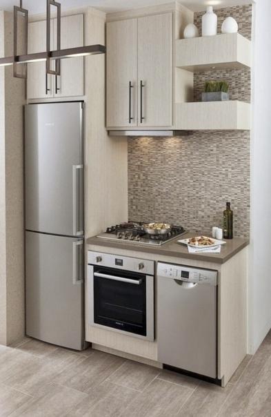 Такая кухня как раз для совсем маленькой студии...