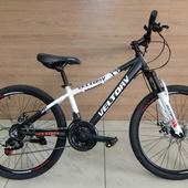 """Велосипед VELTORY 1100 Алюминий, Disc (2021)  24"""" Чёрный/Белый"""