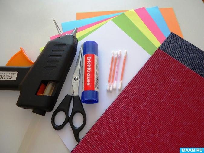 Мастер-класс панно «Летнее настроение» аппликация из бумаги с элементами оригами...