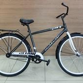 """Велосипед ALTAIR CITY HIGH 28"""" (2021) Черный/Серый"""