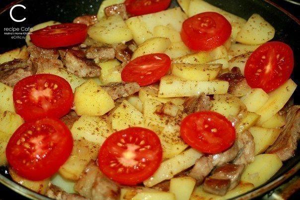 """Картофель """"по-французски"""" на сковороде😋"""