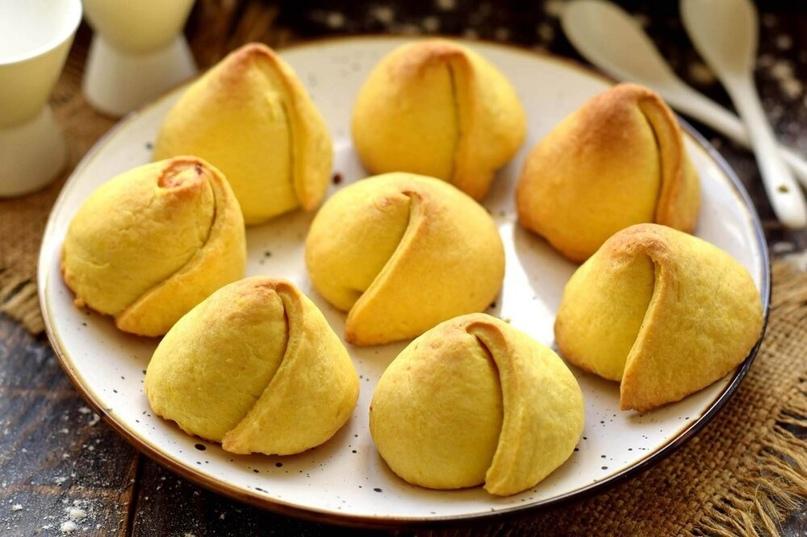 Рецепт необычного домашнего печенья — в виде бутонов тюльпанов. Готовится печень...