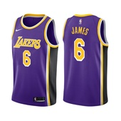 2021-22 Los Angeles Lakers LeBron James #6 Statement Edition Purple Jersey