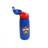 Бутылка для воды с трубочкой 400 мл,  цвет синий