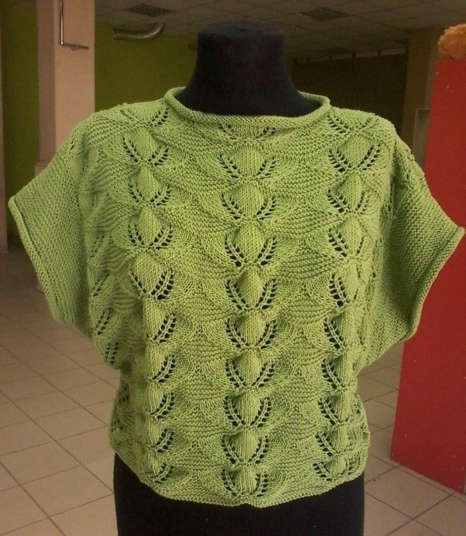 Вяжем красивый пуловер. Описание выполнения работы