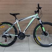 """Велосипед Иж-Байк ТРЕК 2600 (2021) 26"""" Серебристый/Зелёный"""