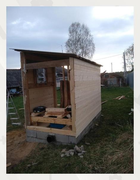 Строим туалет на даче.