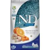 FARMINA N&D OCEAN беззерновой корм для собак мелких пород Треска, Тыква и Апельсин 800г