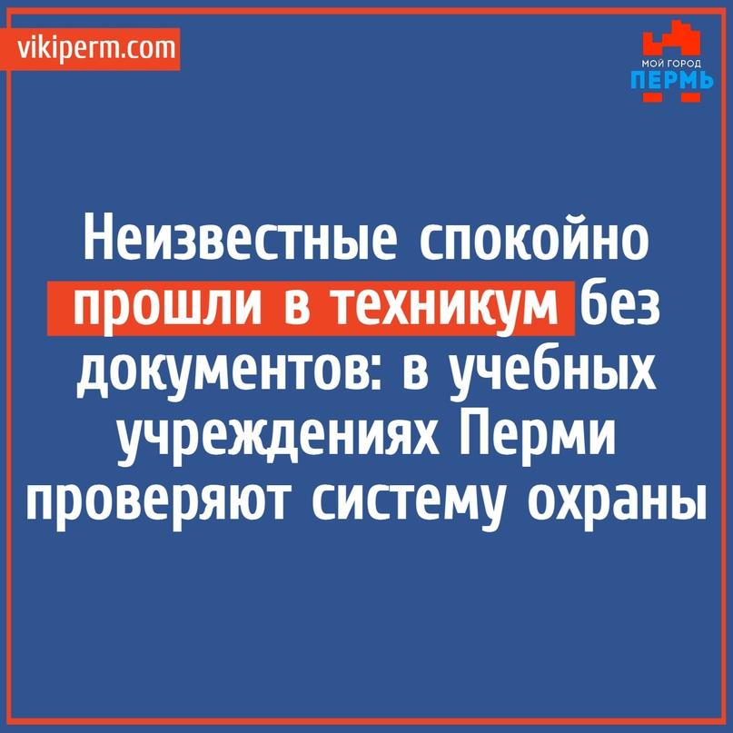 Неизвестные спокойно прошли в техникум без документов: в учебных учреждениях Пер...