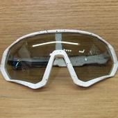Очки ELAX широкие с вентиляцией  Белые в крапинку, серая линза
