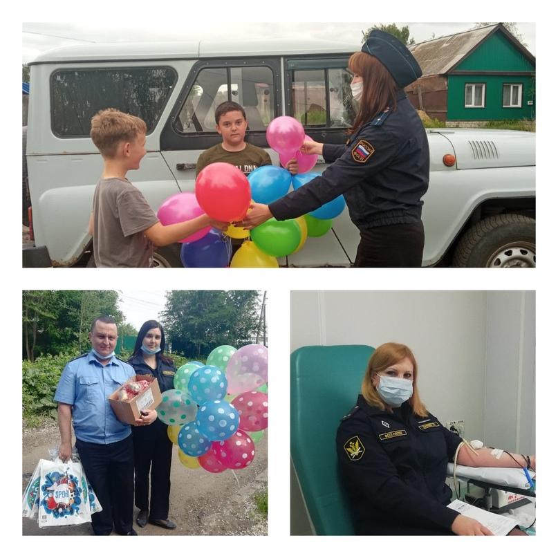 Ульяновскими судебными приставами подведены итоги акции «Судебные приставы – детям»