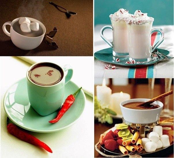 Пять популярных рецептов горячего шоколада.