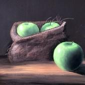 """Натюрморт """"Зеленые яблоки"""""""
