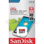 Карта памяти SanDisk Ultra microSDXC 64GB