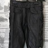 (1022)Мотоштаны кож на шнуровке, р-р XXS.