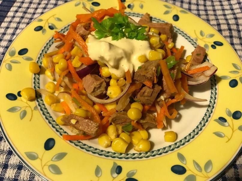 """""""Салат с говядиной и корейской морковкой"""""""
