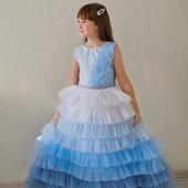 Платье ГОЛУБОЙ ГРАДИЕНТ для девочек
