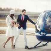 «Романтик» в вертолете