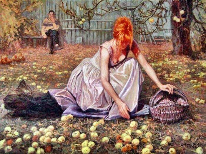 Об отношениях мужчины и женщины на примере яблок