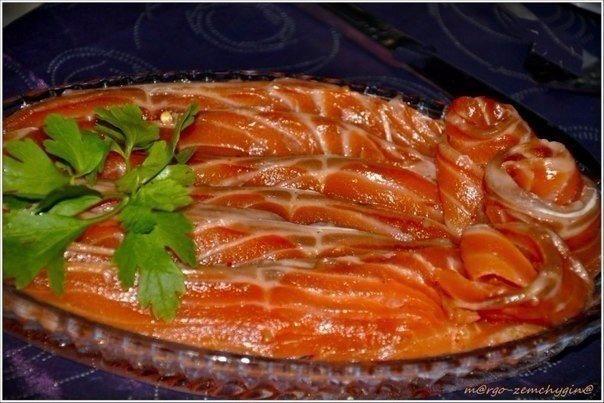 По этому рецепту можно солить не только форель, но и семгу, и лосося и горбушу,н...