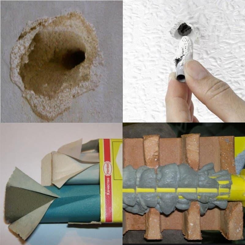 Как закрепить дюбель, если стена рыхлая