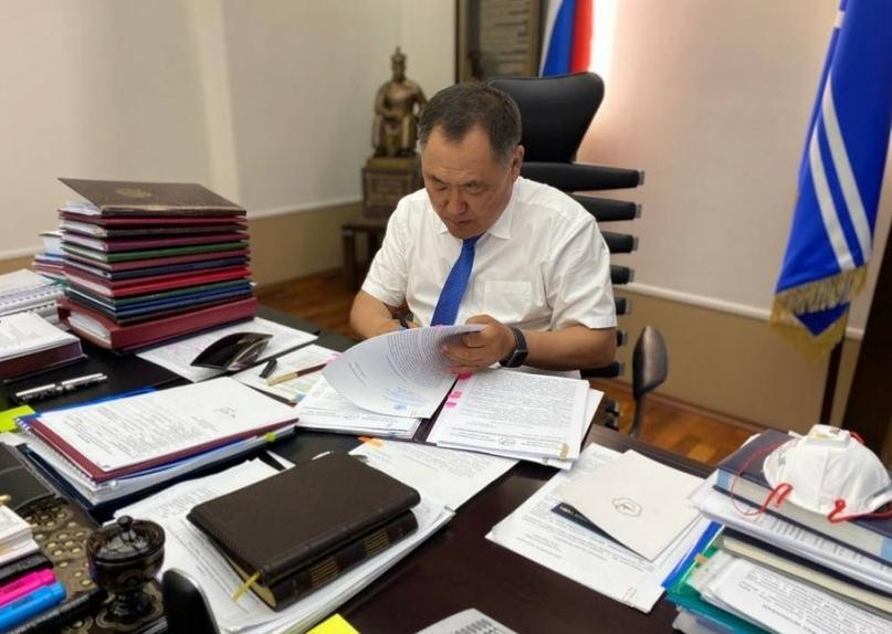 Глава Тувы объявил подготовку к отчету правительства республики.