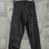(О120)Мотоштаны кожаные, размер S.