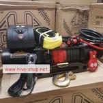 Автомобильная лебедка 4х4 Эксперт 11150СТ синтетический трос (шакл и корозащитная стропа в комплекте