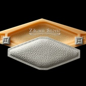 КЕРАМИЧЕСКИЙ ДЕКОР «КОЖА-РОМБ» (LEATHER RHOMBIC Art.W201-A Mini) -  форма полиуретановая